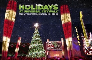 <strong>2012 UNIVERSAL CITYWALK CHRISTMAS<br>Show Writing</strong>