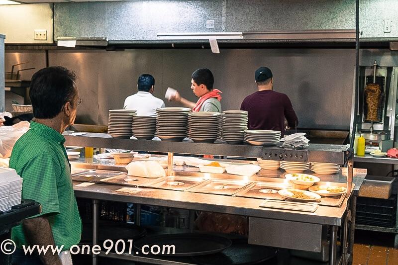 Owner Antonio Martinez overlooks the kitchen