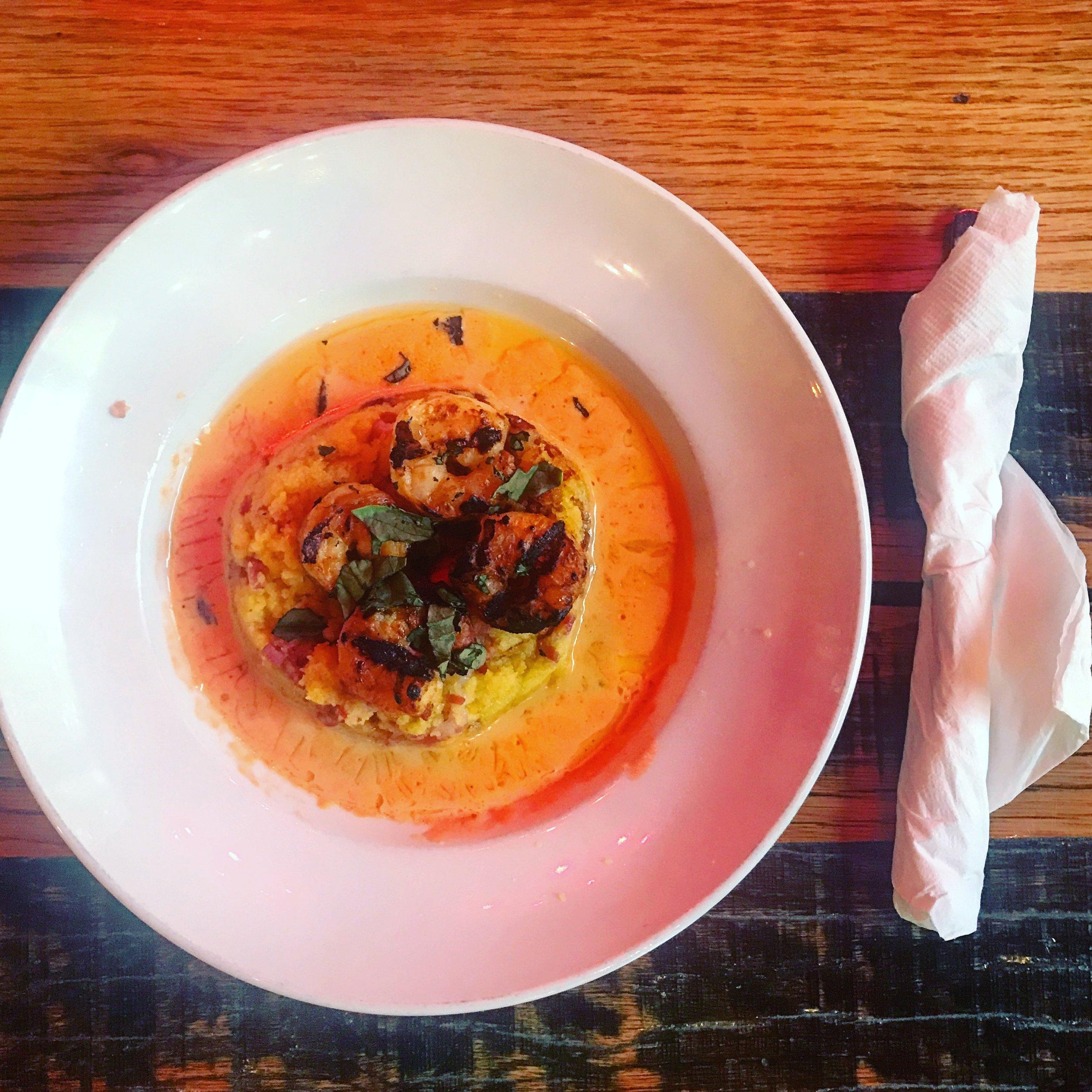 Polenta and Shrimp from Aldo's Pizza