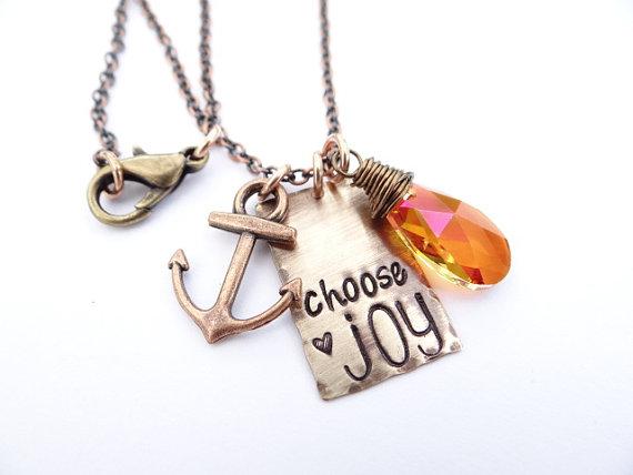 Choose Joy Necklace ~ BBeadazzled