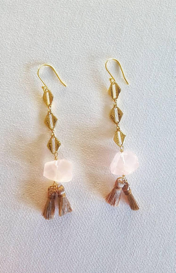 Rose Quartz Earrings (Earth Majesty)
