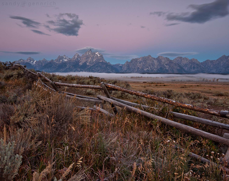Grand Tetons at Dawn - Grand Teton National Park - Wyoming