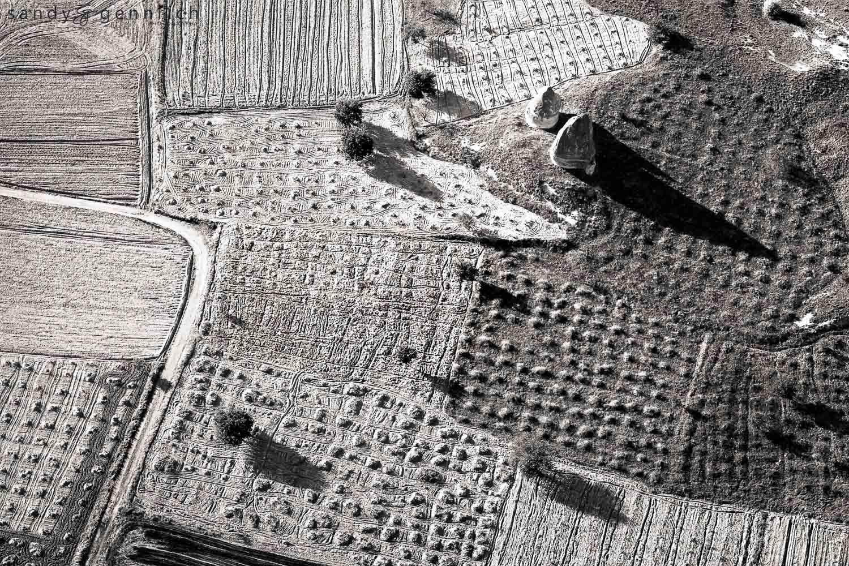 Crop Patterns - Goreme - Cappadocia - Turkey