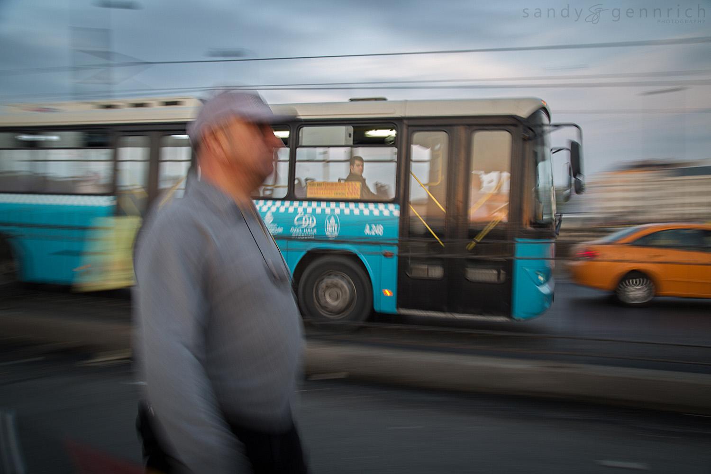 Riding the Bus - Galata Bridge - Istanbul