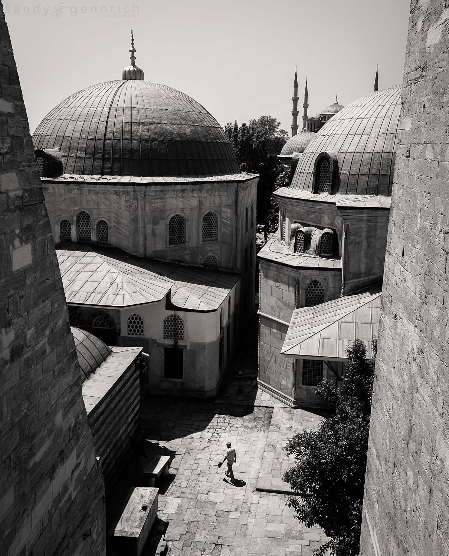 Quiet Courtyard - Aya Sophia - Istanbul - Turkey