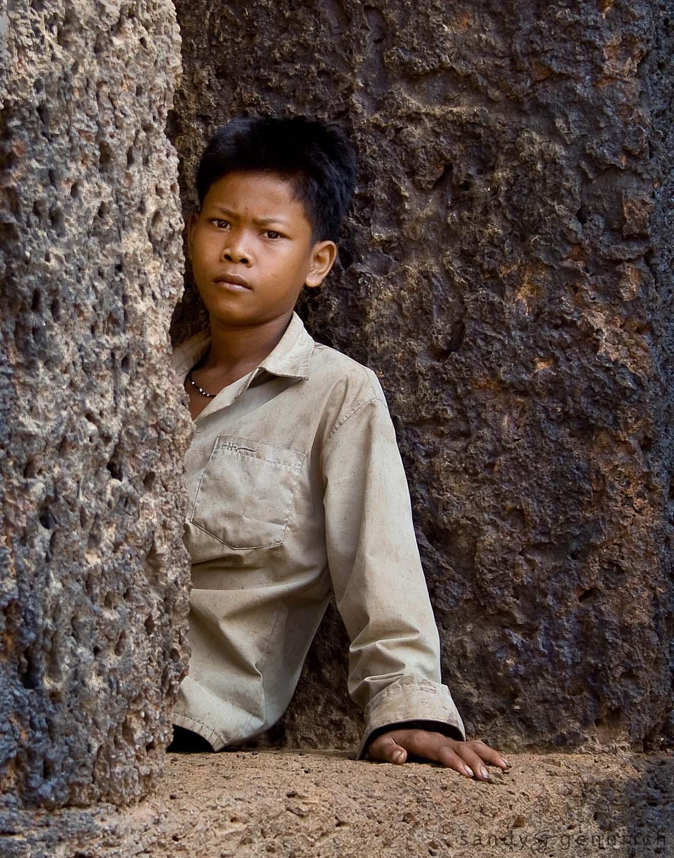 Boy at Wat Nokor - Cambodia