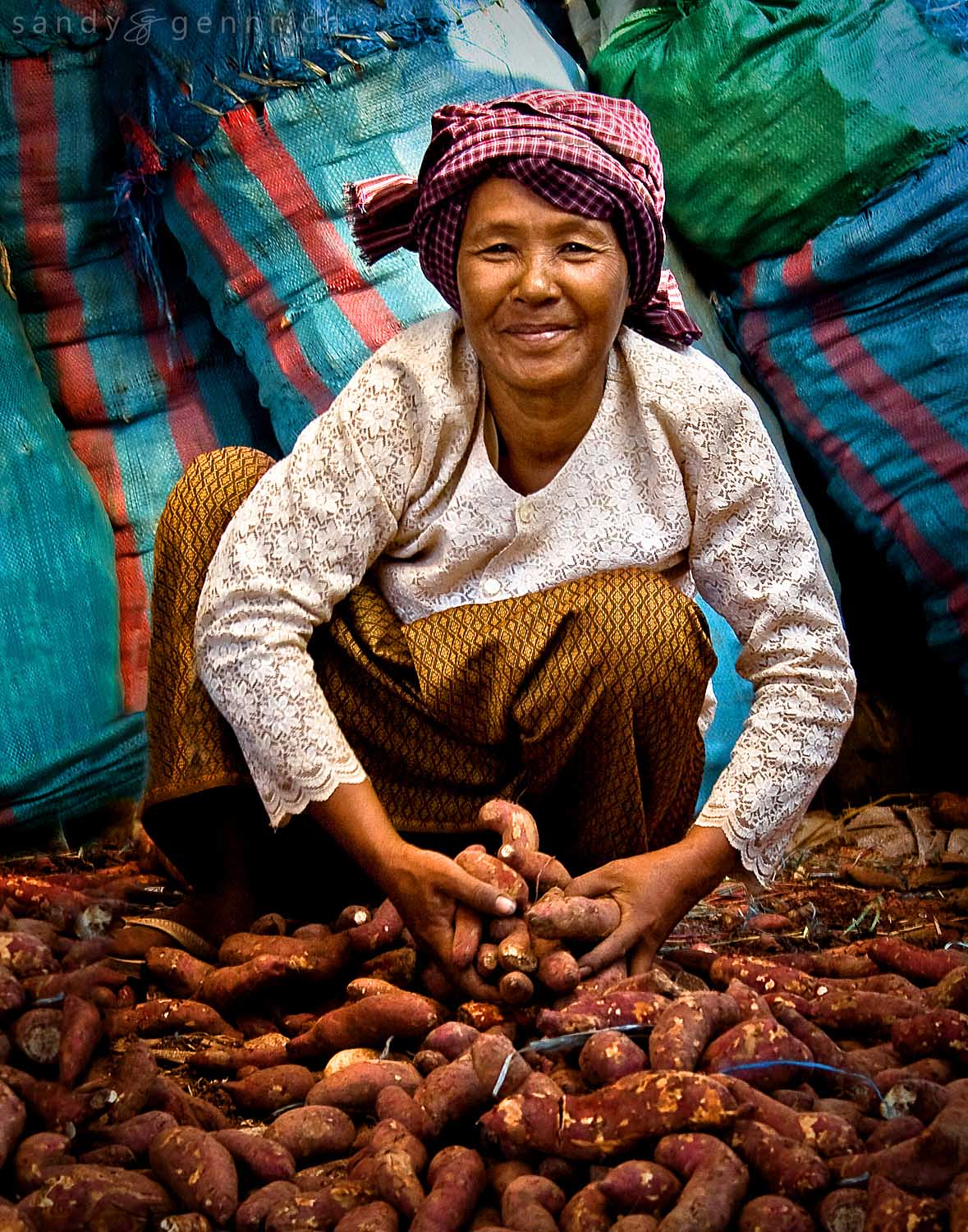 Lady with Potatoes, Cambodia