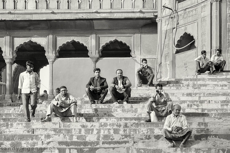 Waiting for Prayer-Jama Masjid--Old Delhi-India