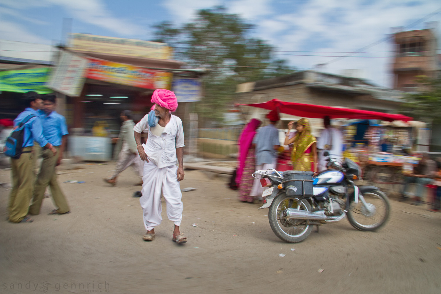 Man with Pink Turban - India in Motion - Rural Rajastan - India