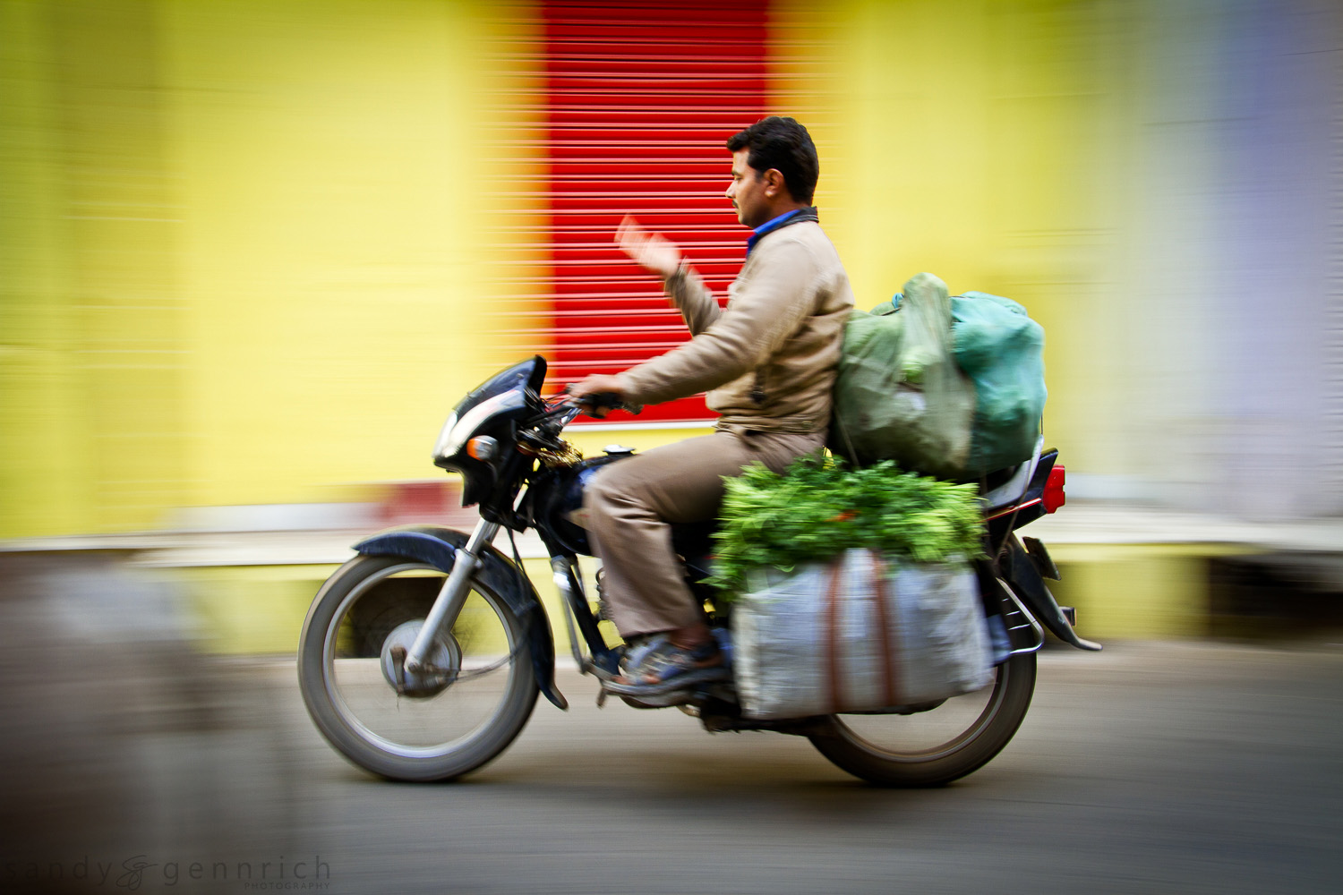 Riding Home from the Market - India In Motion - Udaipur - India