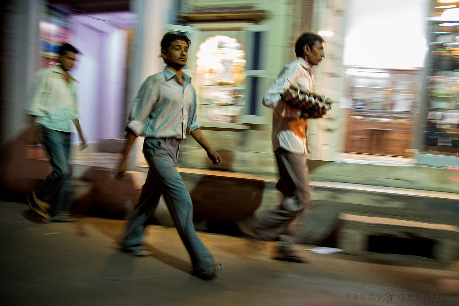 Three Men at Night-Jodhpur-India