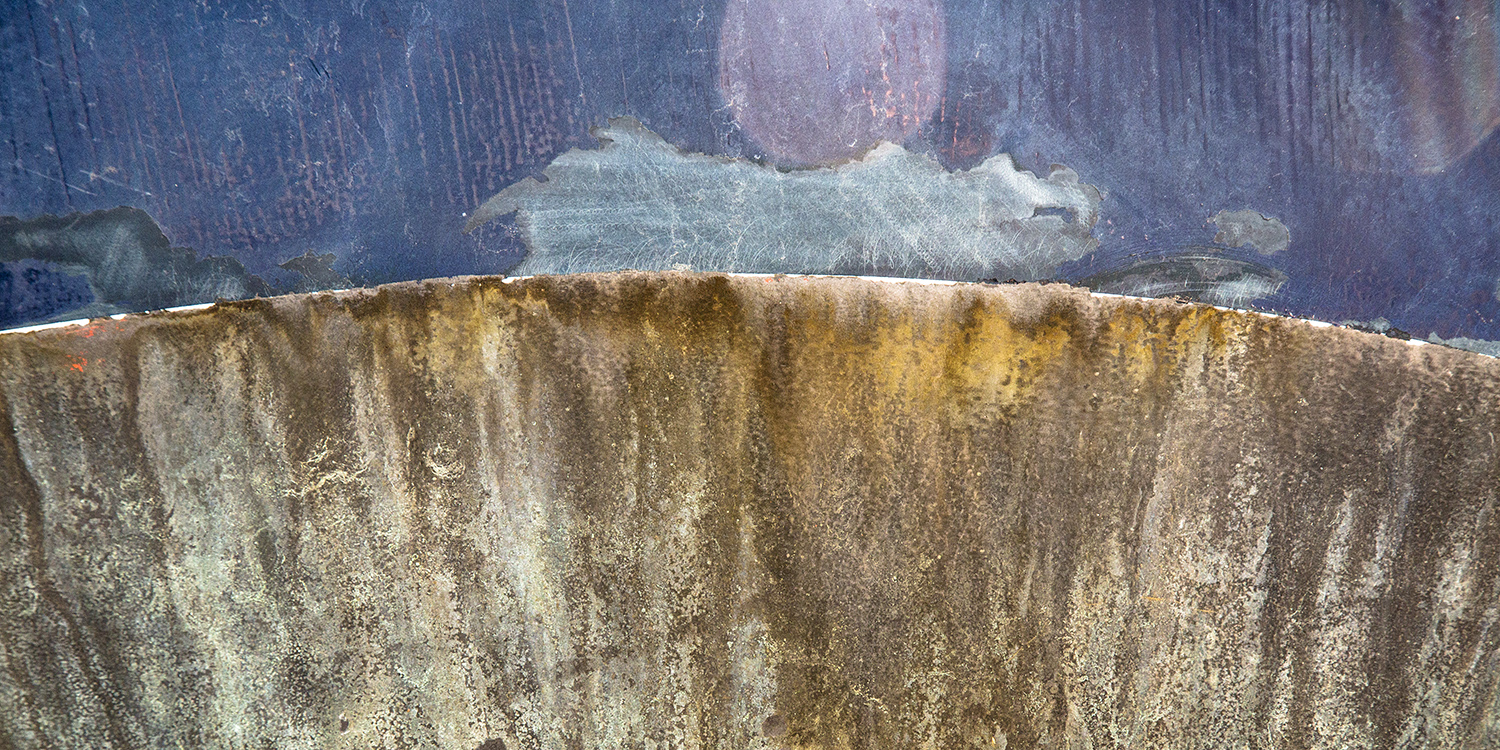Curve of the Earth - Calf Pasture - Boat Abstract - Norwalk CT