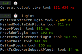A sample of the output from the Speed Measure Plugin