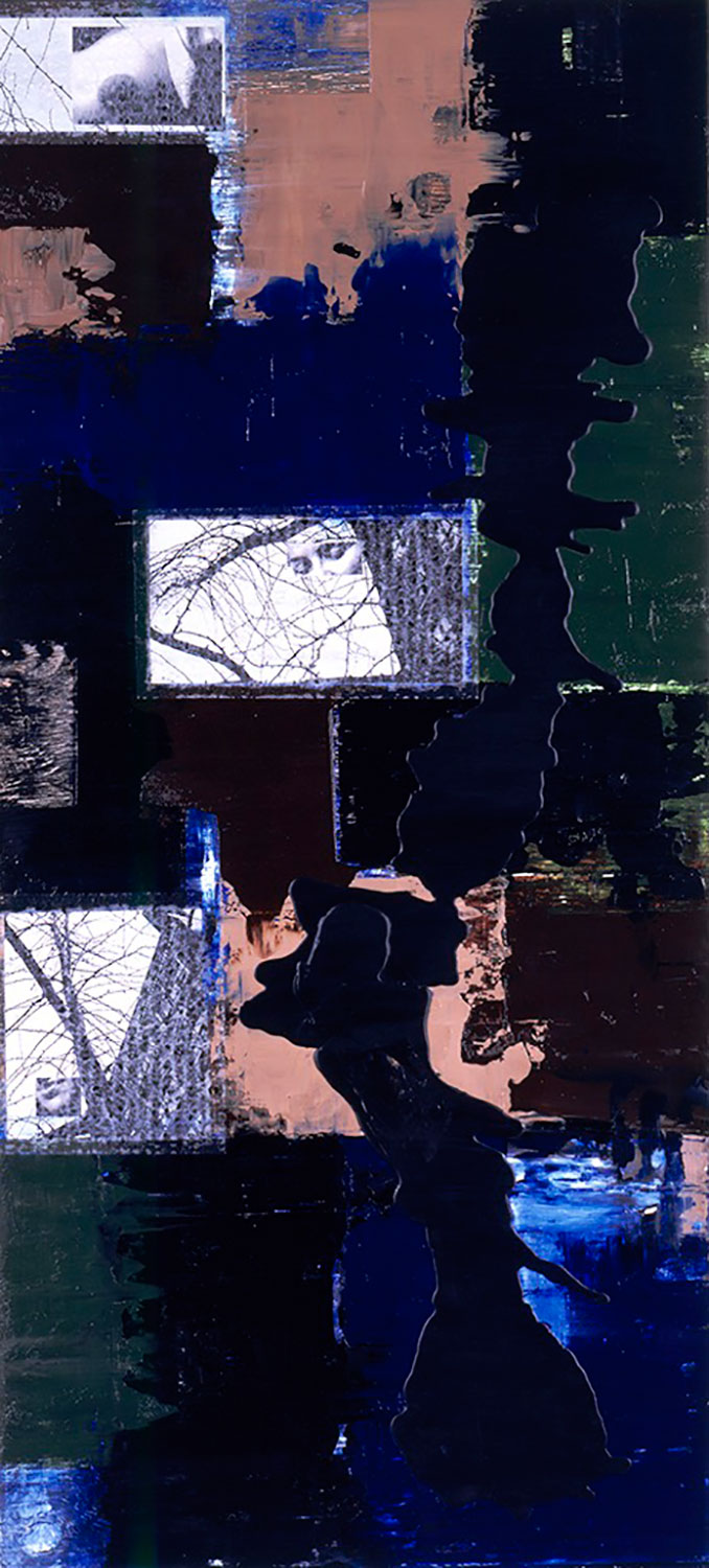 Untitled, 1999 Oil, paper and wax on panel