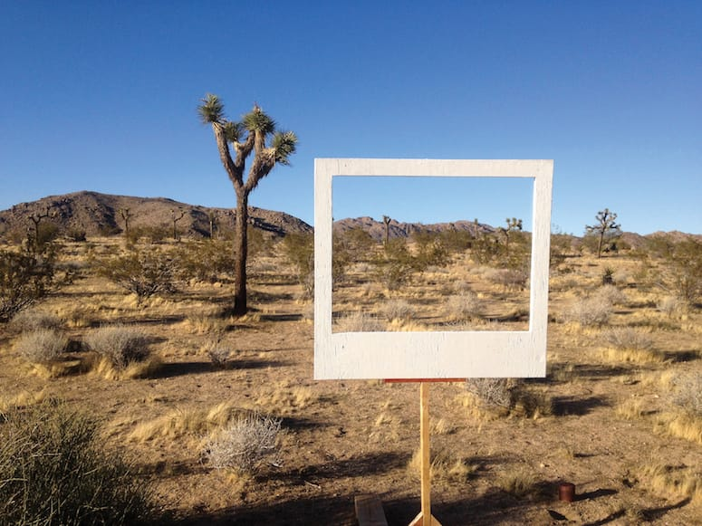 Stefanie Schneider's  The Big Picture  welcomes visitors to tame and frame their surroundings.