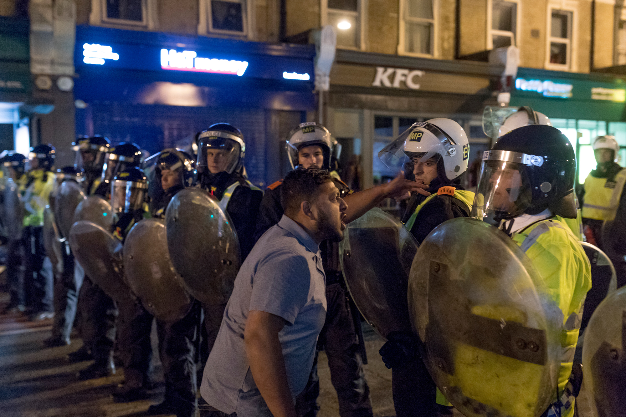 Demonstrators clashed with police in London over the death ofEdir Frederico Da Costa, a 25 year old black man who passed away six day after being arrested officers. The police watchdog, used force and CS spray against Da Costa during his arrest.