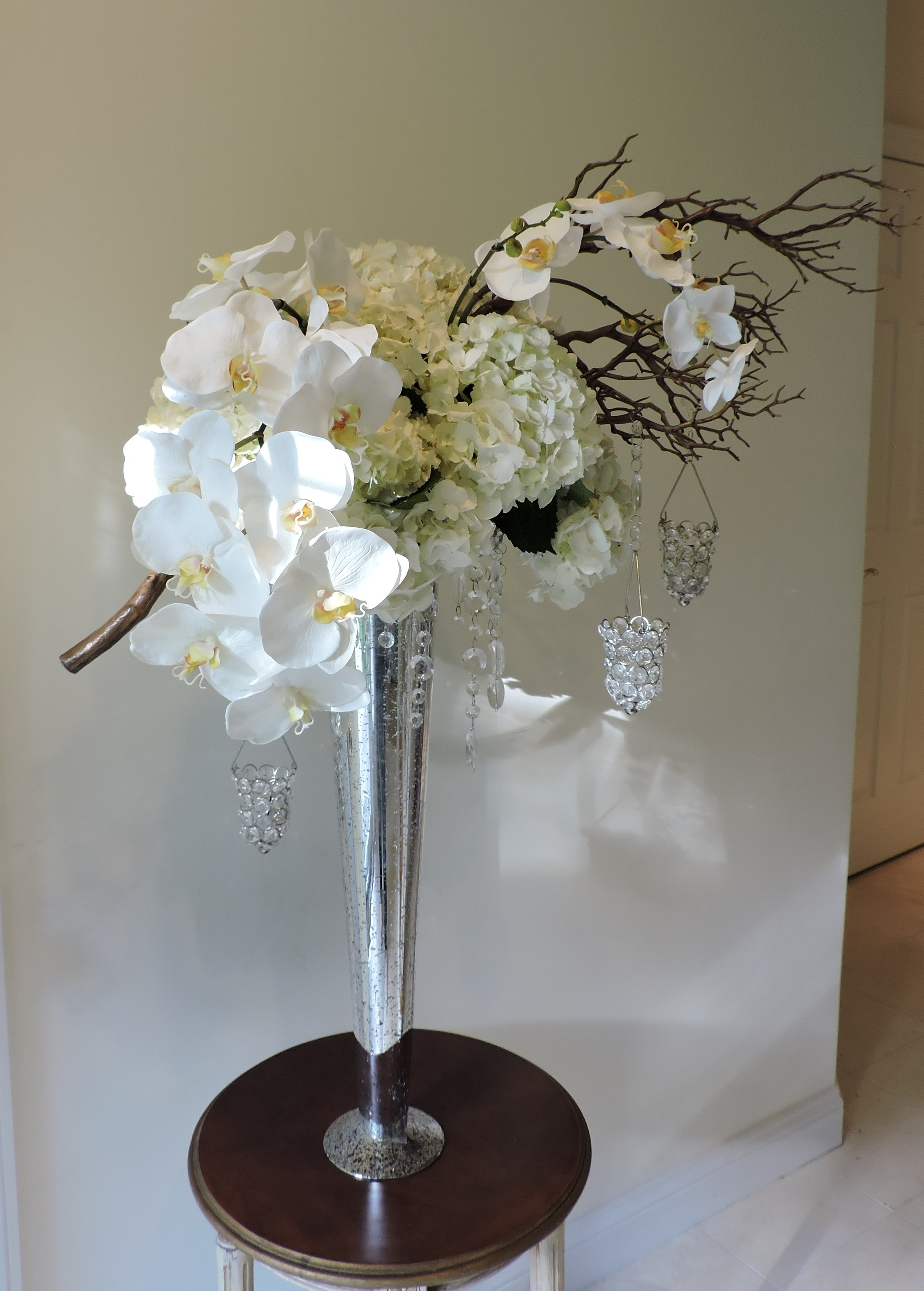 Orchids and Hydgrangeas