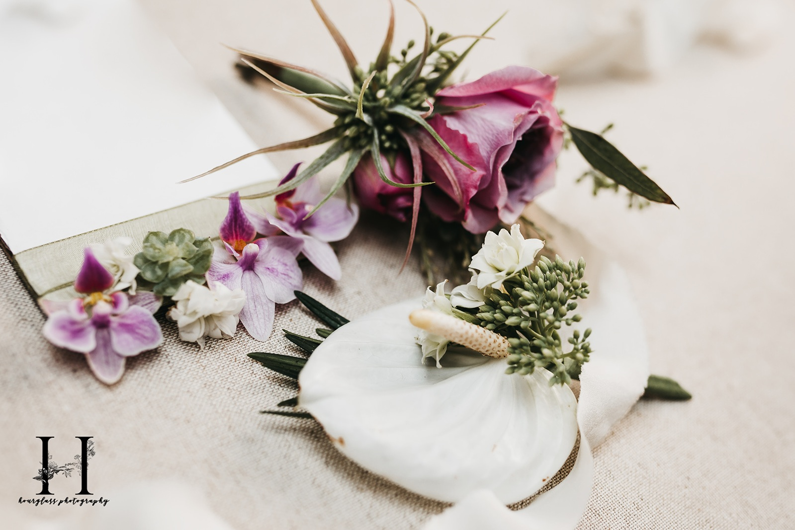 Trio of boutonniere possibilities…. The Big Fake Wedding @ Willowdale Estate Photo by Hourglass Photography… Designs by Maureen Christmas AIFD CFD EMC of Floral Notes, Acton, MA