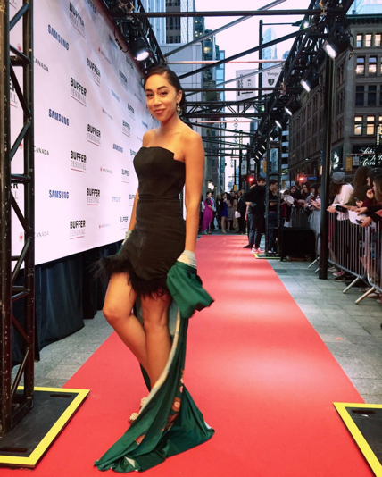 (Pictured in a Zeffra Nieri dress at the Canadian Buffer festival. Photo taken from @shanboody Instagram.)