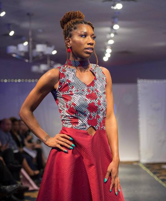 Sandrina Taylor in a Chimu design