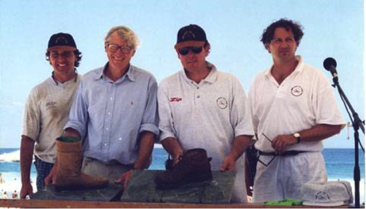 (L-R) Chris, Graham, Walter and Nick Cole at an early Cole Classic