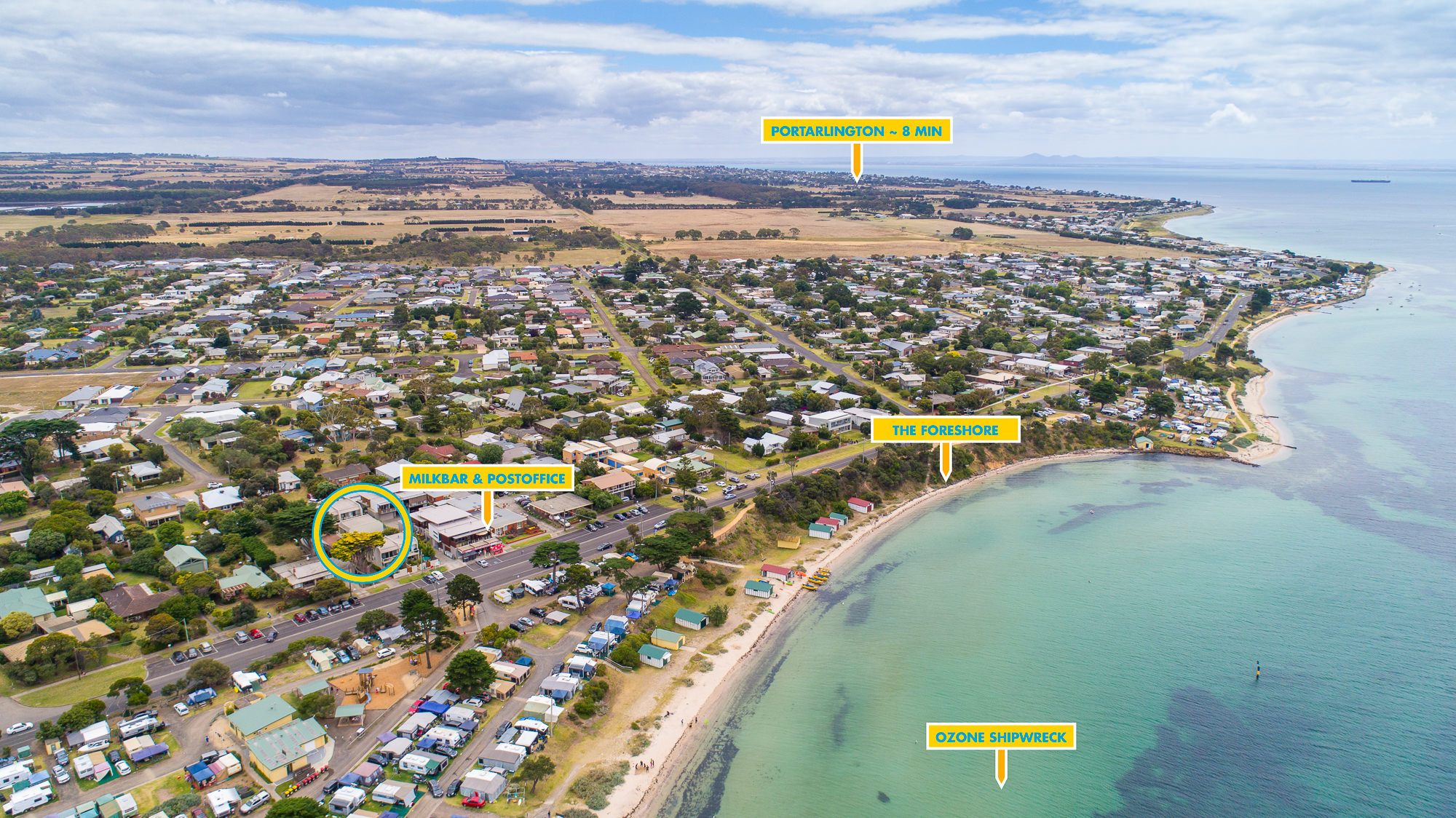 Indented Head aerial photography
