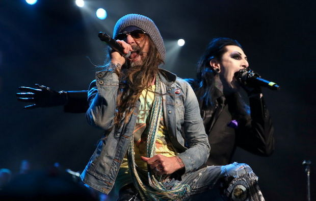Rob Zombie and Chris Motionless AP Music Awards