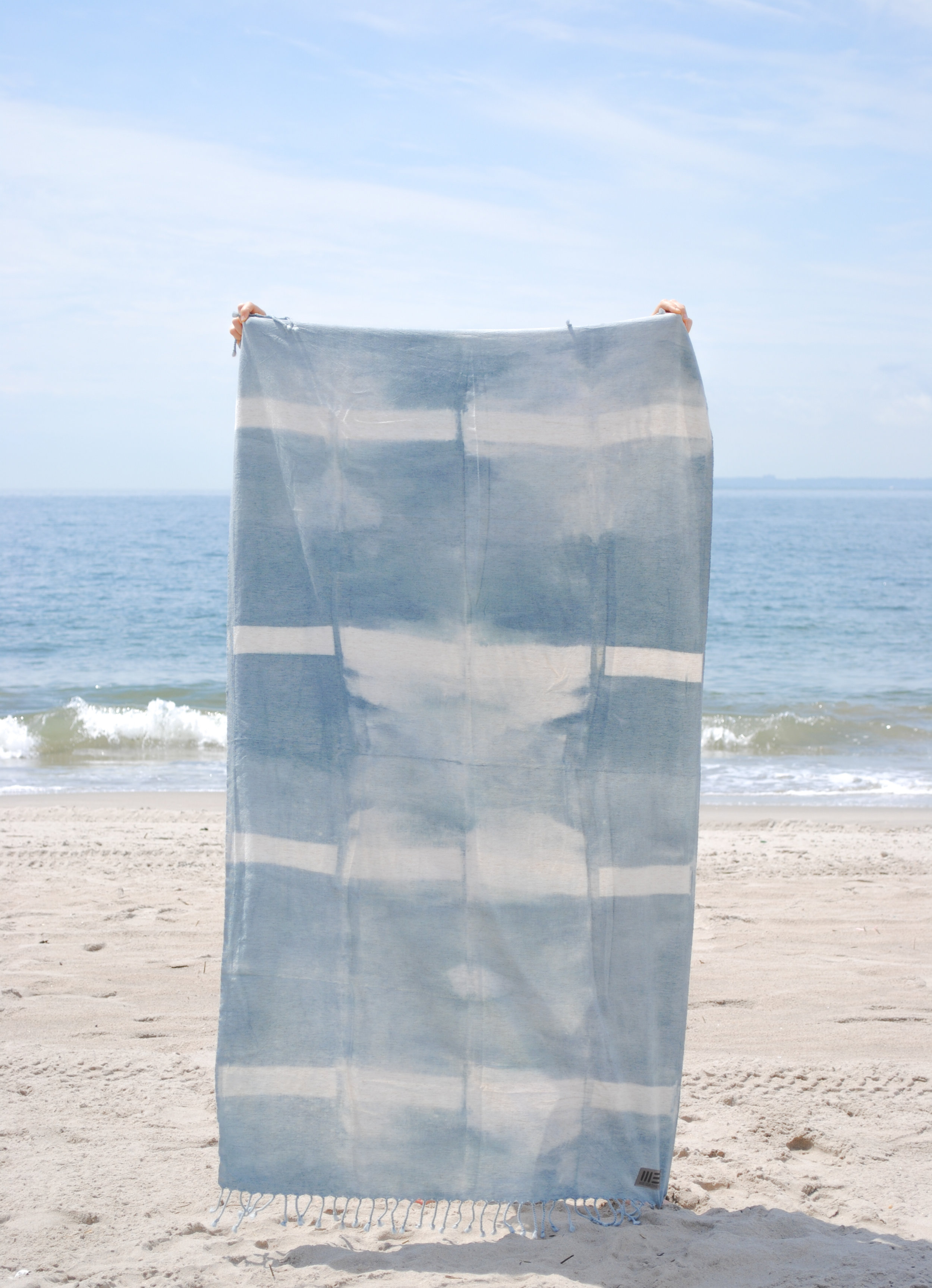 Clean Grey - Banded Shibori