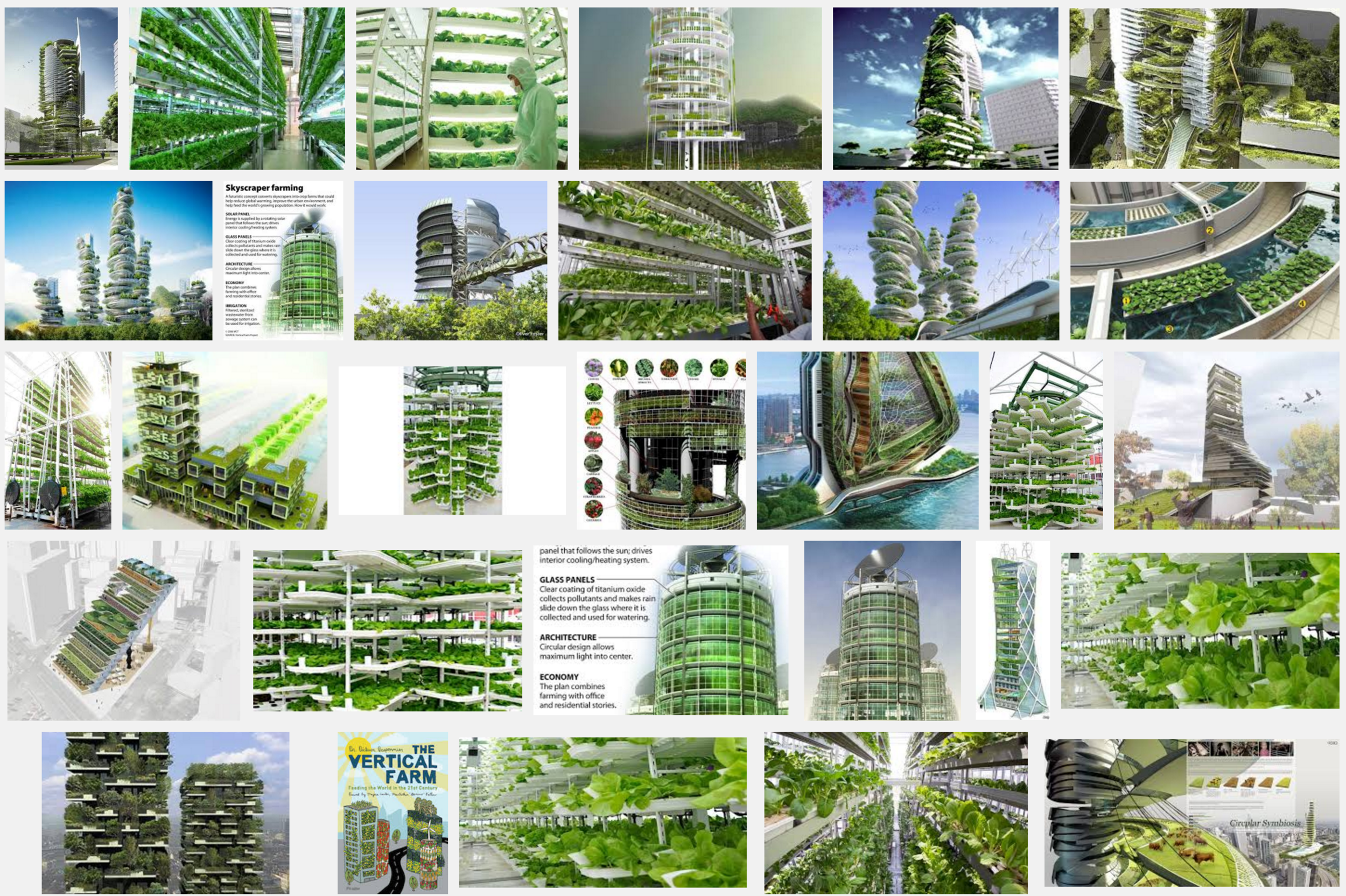 The weird and wonderful renderings of hundreds of vertical farm concepts around the world...