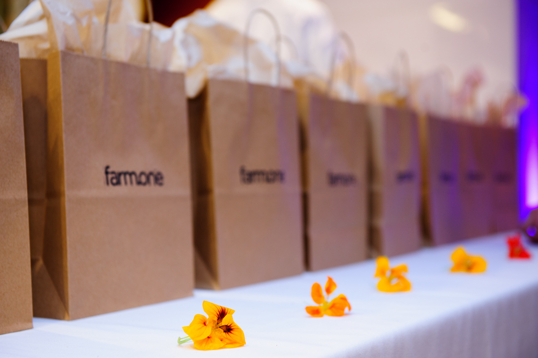 Guests leave delighted with custom gift bags of fresh botanical ingredients