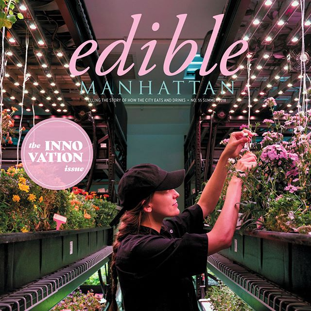 We are delighted to be featured on the cover of this month's @ediblemanhattan magazine, with a selection of fantastic photos by @lizclayman showing the inside of our operation in TriBeCa. Grab a copy of the magazine for the full scoop! #edible #nycfood #foodie #foodstagram #urbanfarming #verticalfarming #cheflife