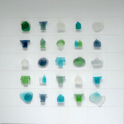 Memory Wall , Glass on Wood Panel, 2015