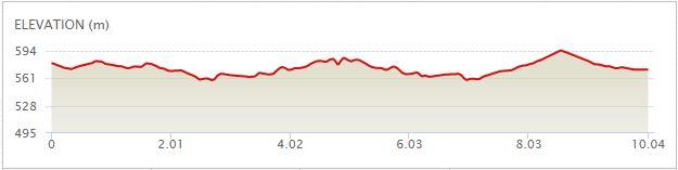 Elevation Map 10km