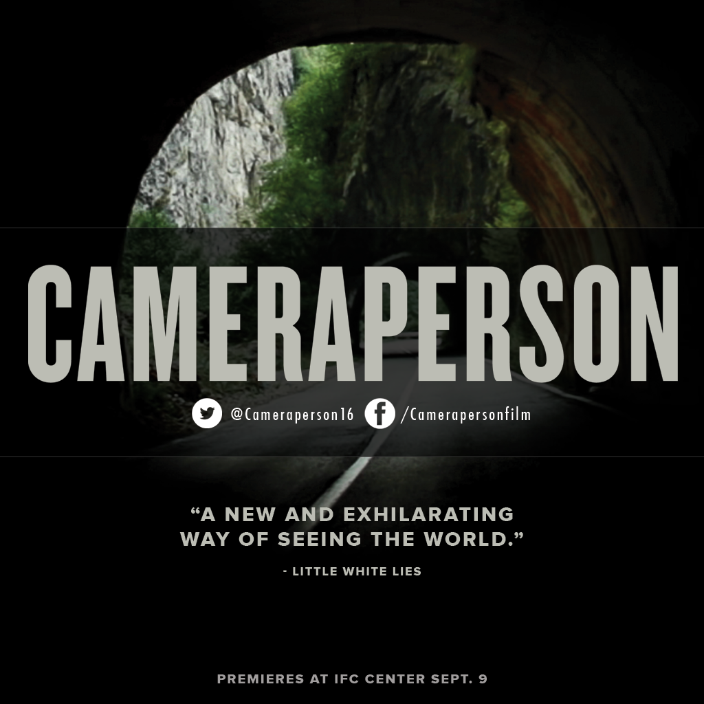 """Critics call #Cameraperson """"ingeniously assembled"""" (@BrooklynMagazine) and """"one of the most remarkable films of the year"""" (@FandorFilms). See it in #NewYorkCity this weekend! Opens at @IFCCenter Sept. 9  #documentary #film #documentaries #photog #cinematography #sundance #filmfestival"""