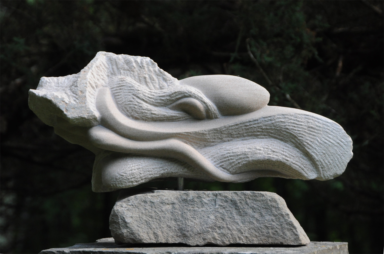 Stone Carvings    -  A selection of pieces in limestone, marble and alabaster exploring texture, contour, and contrast through predominately biomorphic forms.