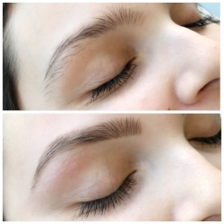 Brow Shape + Brow Tint before and after