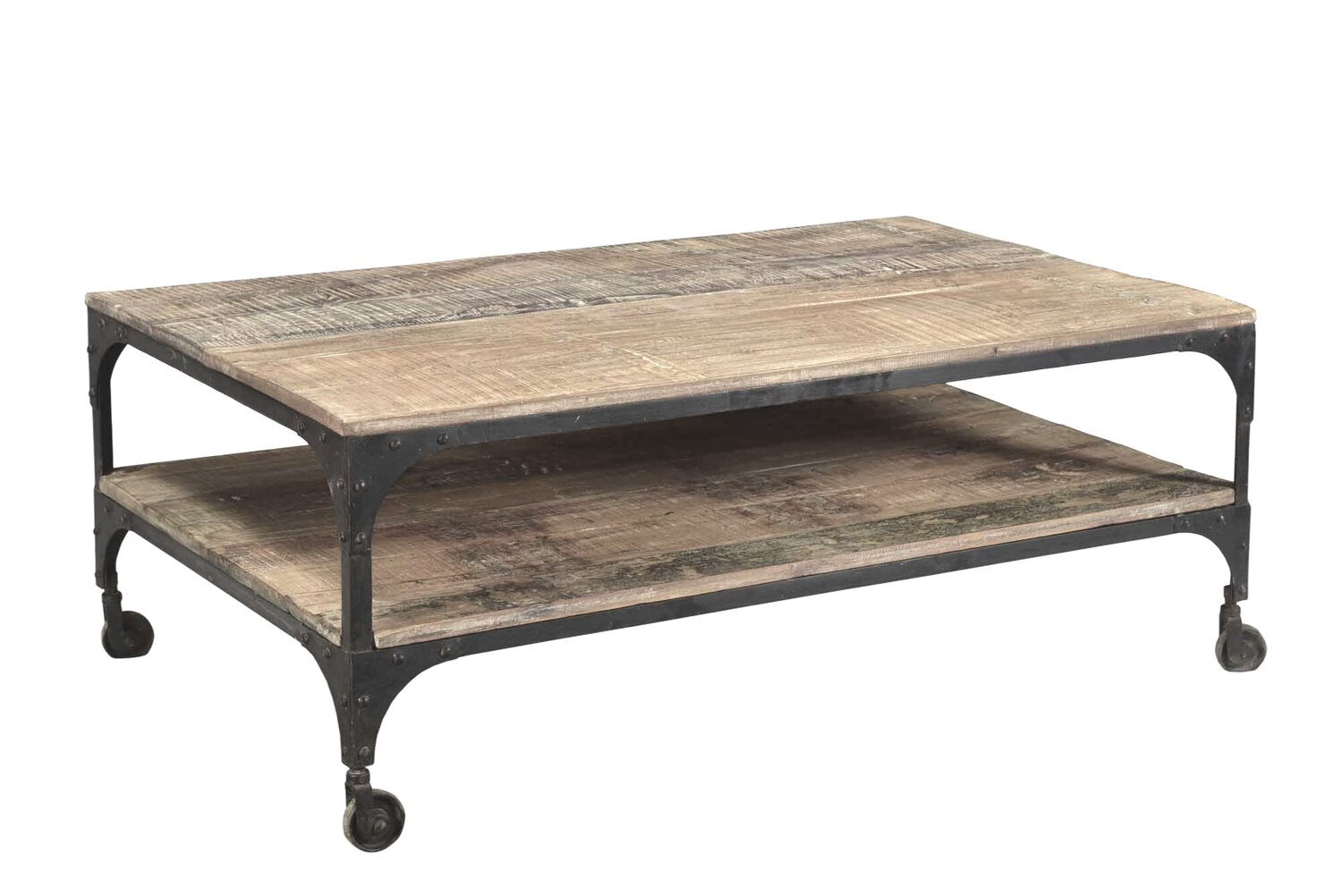 Industrial Iron And Hardwood Coffee Table Ha Veli Of Byron Bay