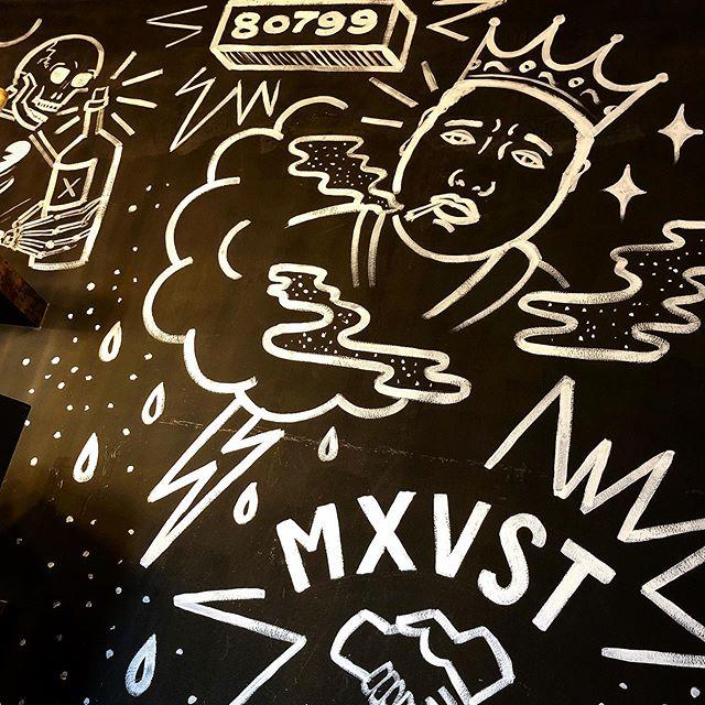 Kunstvoll in die neue Woche - Think positiv: am Mittwoch ist schon wieder Vorfeiertag 🧨🧨🧨 . . . #55eleven #mxvst #graffiti #chalkart #painting #biggiesmalls #notoriousbig #maxvorstadt #interior #design