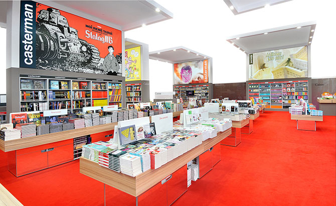 design-stand-groupe-flammarion-agence-narrative