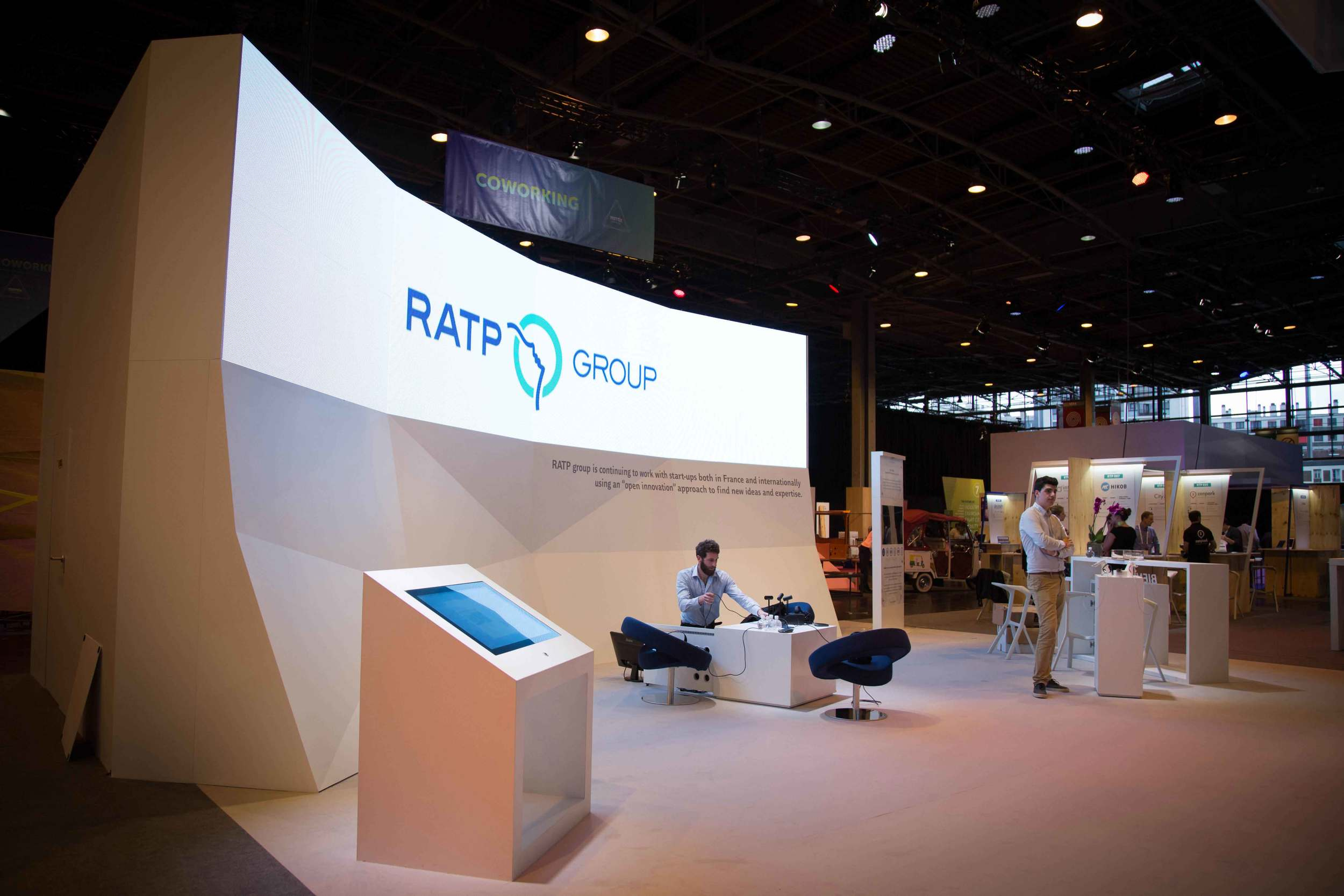 Stand Groupe RATP au salon Viva Technology