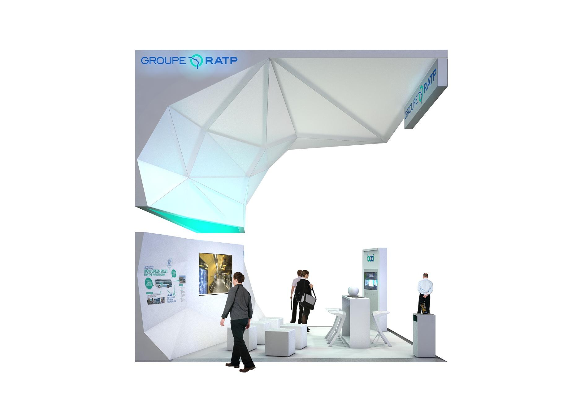 le projet de stand pour le Groupe RATP à l'AMIF