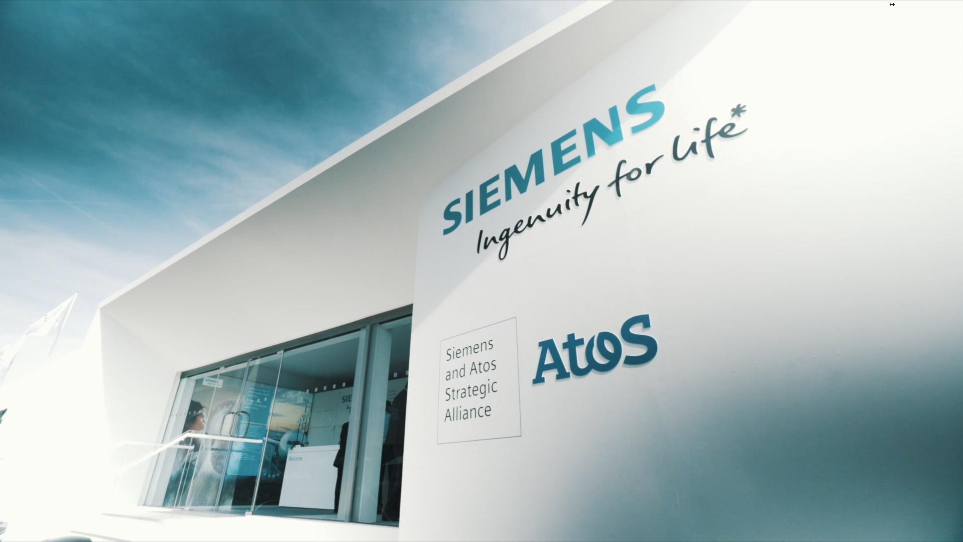 La façade du chalet Siemens au salon du Bourget (SIAE) 2017