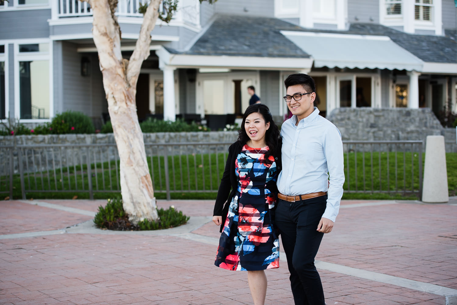Here comes the surprise. Cliffside proposal & engagement in Dana Point | Stanley Wu Photography Portrait & Wedding Photographer | Los Angeles, Orange County, Southern California