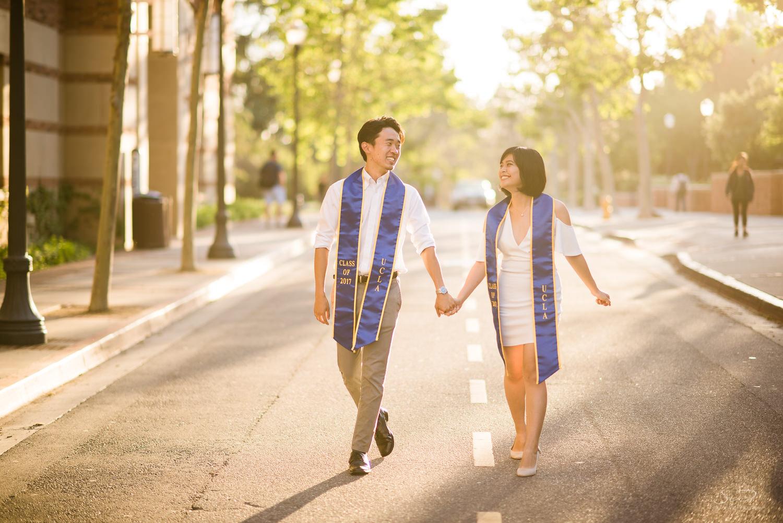 Copy of Copy of college senior couple walking against a sunset | Stanley Wu Photography | Los Angeles | Graduation Portraits | UCLA, USC, LMU, Pepperdine, CSULA, CSUN, CSULB, UCI, UCSD