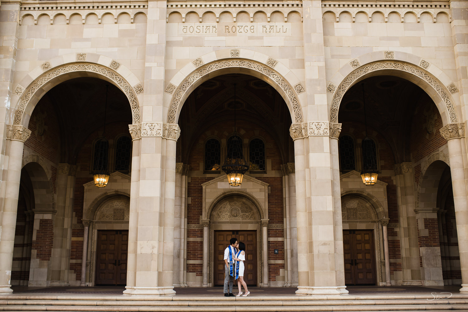 Copy of Copy of epic architectural portrait of couple standing under arches at royce hall | Stanley Wu Photography | Los Angeles | Graduation Portraits | UCLA, USC, LMU, Pepperdine, CSULA, CSUN, CSULB, UCI, UCSD