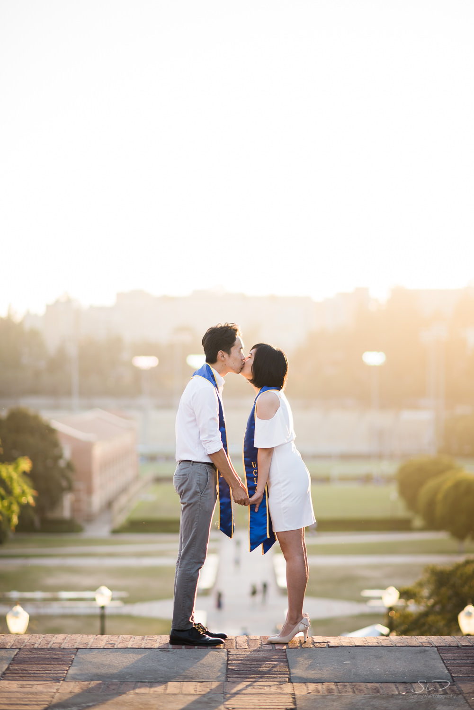 Copy of Copy of beautiful sunset portrait of a couple kissing  | Stanley Wu Photography | Los Angeles | Graduation Portraits | UCLA, USC, LMU, Pepperdine, CSULA, CSUN, CSULB, UCI, UCSD