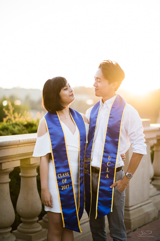 Copy of Copy of beautiful sunset portrait of college senior couple | Stanley Wu Photography | Los Angeles | Graduation Portraits | UCLA, USC, LMU, Pepperdine, CSULA, CSUN, CSULB, UCI, UCSD