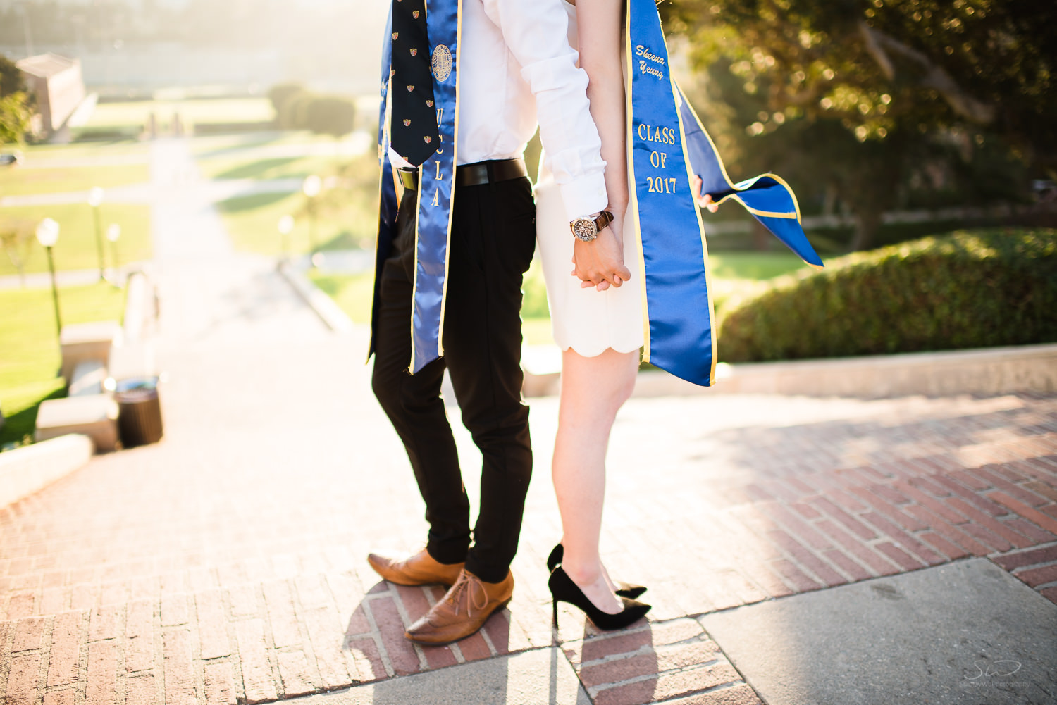 Detail shot of couple.  Best graduation portrait photography, Los Angeles.