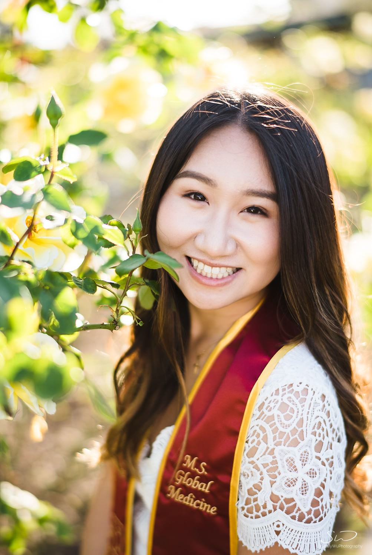 Rose Garden portrait at USC | Los Angeles Orange County Senior Portrait & Wedding Photographer