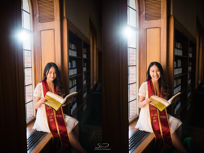 Doheny Library graduation portrait photo at USC | Los Angeles Orange County Senior Portrait & Wedding Photographer